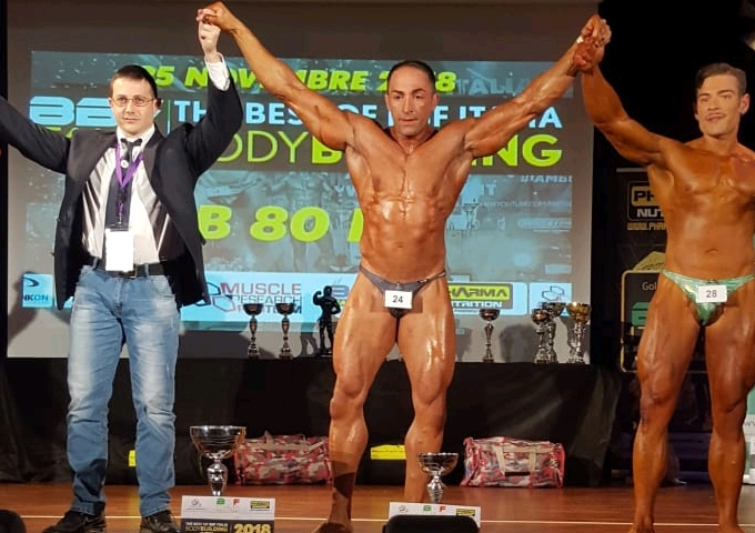 Peppe Fusco, primo al The Best Body Building and Fitness Italy